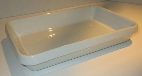 "APILCO Classic Whiteware #8 French Porcelain Rectangular Baker Casserole 10""x 7"""