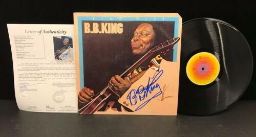 B.B. King Signed King Size Album JSA Authenticated Autographed BB Signature LOA