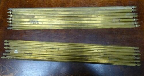 VINTAGE   BRASS CARPET STAIR RODS 7 + 6 13 in total