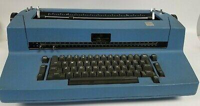 Vintage Blue Ibm Selectric Ii Typewriter W 18 Font Wheels 10 And 12 Pitch