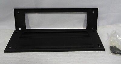 Baldwin 0015190 Hinged Magazine Size Letter Box Plate Oil Rubbed Bronze (Baldwin Letterbox Plate Magazine)