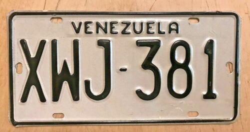 "VENEZUELA SOUTH AMERICA  AUTO PASSENGER LICENSE PLATE "" XWJ 381 """