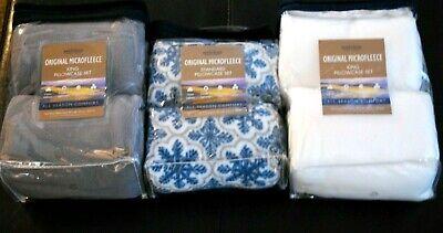 Fleece Pillowcase (BERKSHIRE MICROFLEECE PILLOWCASE FLEECE WHITE, SNOWFLAKE, GREY KING OR STANDARD )