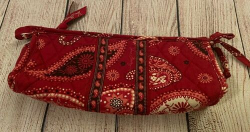 Vera Bradley Bow Cosmetic Bag in Mesa Red - Make Up Case - Paisley, Floral