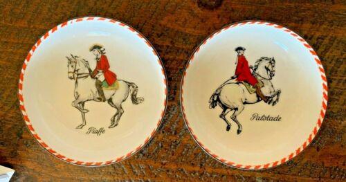 2 Spanish Riding School Lipizzaner Dish Horse Lipizzan Hand Painted