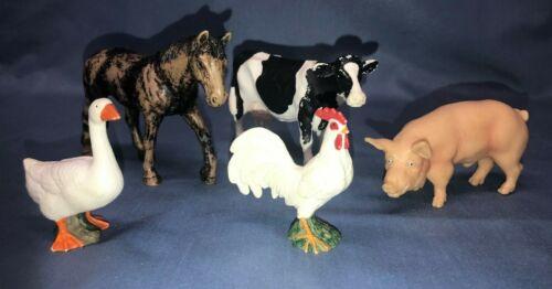 Schleich Assorted Farm Animal Barnyard Figurines PVC Plastic Chicken Horse Pig