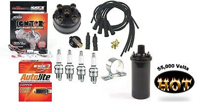 Electronic Ignition Tune Up Kit Hot Coil Ih Farmall 300 330 340 Tractor