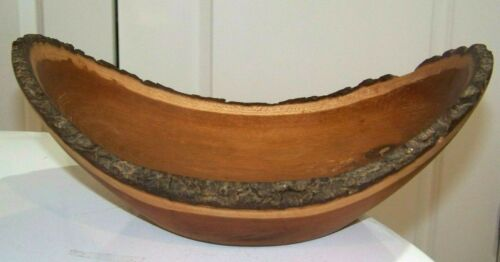 Burl Wood Knotted Natural Edge Bowl Signed 2010 Cherry