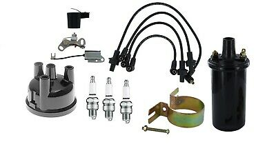3 Cyl Ford 2000 3000 4000 Tractor Ignition Tune Up Kit 12v Coil