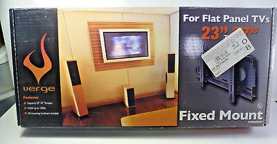 "Verge Home 23"" - 37"" Flat Panel Fixed Wall Mount w/ Built in Level"