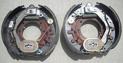 "Pair- 12.25"" x 4"" Brake Back Plate Trailer 10K HD Axle Dexter Electric 9-27 drum"