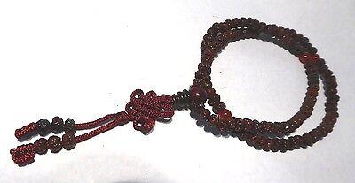 Rudraksha  Natural Brown  Hindu  5mm Meditation 108 Prayer Bead Stretchy  Mala