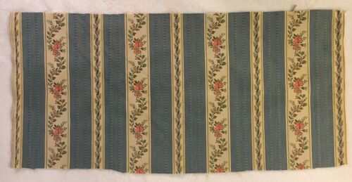 "Vintage Antique French Silk Fabric - 26"" X 12"""