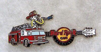 HARD ROCK CAFE NASHVILLE DALMATIAN DOG FIRE ENGINE GUITAR PIN # 96082