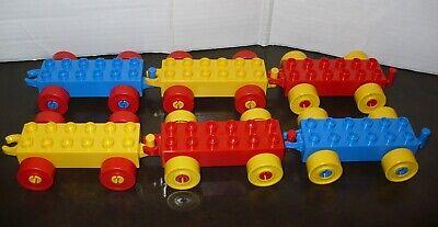 LEGO DUPLO Train / Car / Wagon Wheel Base w/ Hitch ~ Set of 6