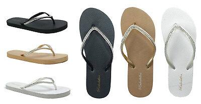 - New Women's Sandals Rhinestone Diamond Head Bling Flip Flop Beach Gym Pool--313L