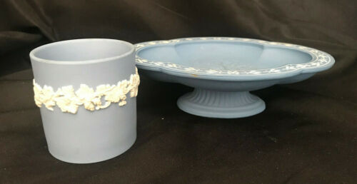 Avon Blue Avonshire Soap Dish and Cup Wedgewood England
