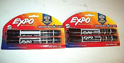 Lot Of 2 Expo Dry Erase Markers New Ink Indicator Low Odor Ink Chisel Tip New