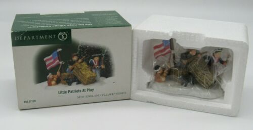 "Dept 56 New England Village Accessories ""Little Patriots at Play"" New"