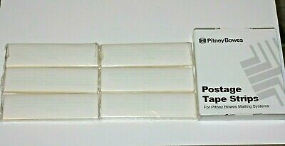 Pitney Bowes Postage Tape Strips 625-0 Perforated Open Box 6x50300 Strips