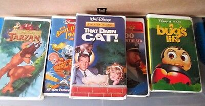 WALT DISNEY~Lot of 5 VHS~Bug's Life~TARZAN~20,000~Brave Toaster~THAT DARN CAT ()
