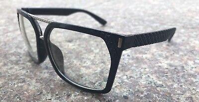 New Black Frame Clear Lens Glasses Vintage Classic Fashion Retro Square (Clear Lens Black Frame Glasses)