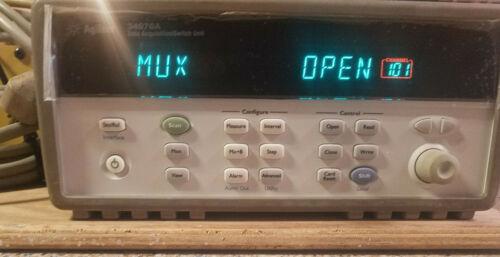 Agilent 34970A Data Acquisition / Switch Unit W/ 34901A 16 Channel Multiplexer