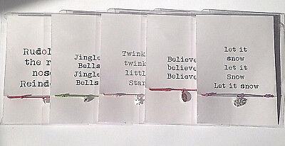 Polar express bell believe Christmas Eve box friendship bracelet stocking filler - Polar Express Party Supplies