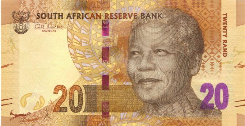 "2012 R20 SOUTH AFRICA UNC BANKNOTE Nelson Mandela | ""AA"" PREFIX | ELEPHANT"