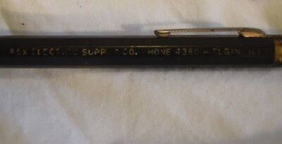 TS-034 IL Elgin Fox Electrical Supply Co, Mechanical Pencil Advertising Vintage