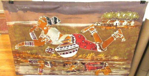 "S.P. JAYAKAR ""VILLAGE GIRL"" ORIGINAL BATIK PAINTING SIGNED"