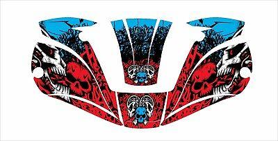 Miller Digital Elite 257213 Titanium Welding Helmet Wrap Decal Sticker Red Skull