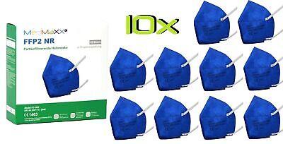 10x MedMaXX FFP2 NR Atemschutzmaske auch für Kinder geeignet Größe S blau II