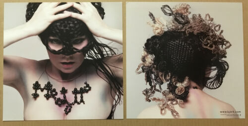BJORK Rare 2004 DOUBLE SIDED PROMO POSTER FLAT for Medulla CD MINT 12x12 USA
