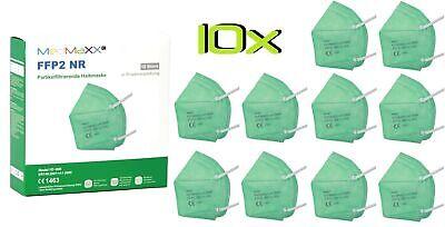 10x MedMaXX FFP2 NR Atemschutzmaske auch für Kinder geeignet Größe S grün II