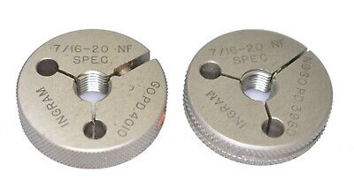 716-20 Unf Special Thread Ring Gage  Go Not-go .437 - 20 Ingram Pre-plate