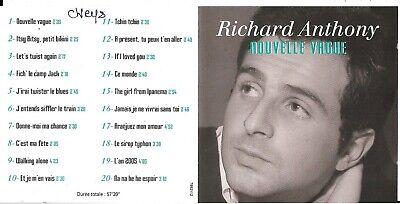 CD RICHARD ANTHONY NOUVELLE VAGUE 20T BEST OF INCLUS SIROP TYPHON de