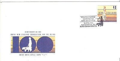 Cover Topical  New Zealand Foundation For The Blind Centenary  Fdc  Medicine