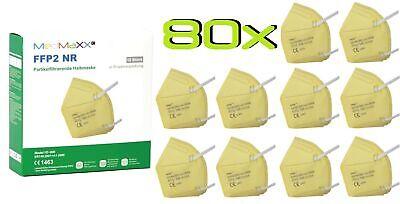 80x MedMaXX FFP2 NR Atemschutzmaske auch für Kinder geeignet Größe S gelb II