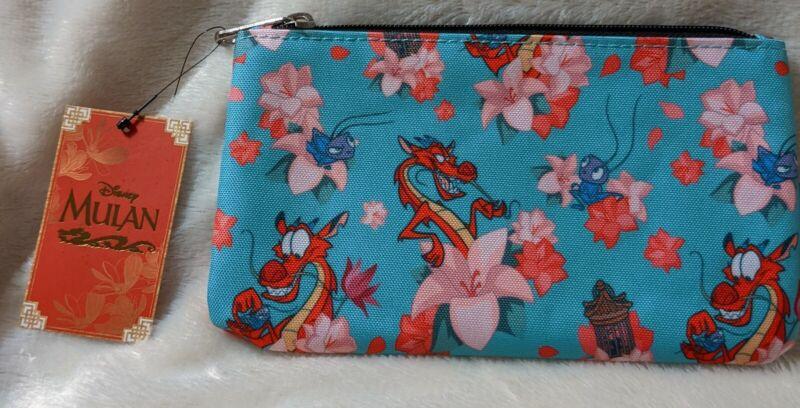 Loungefly Disney Mulan Mushu & Crikee AOP Nylon Coin Pouch Bag NWT
