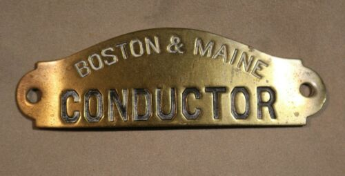Vintage Brass Boston & Maine Railroad Conductor