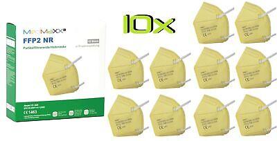 10x MedMaXX FFP2 NR Atemschutzmaske auch für Kinder geeignet Größe S gelb II
