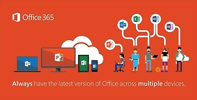 Microsoft Office 365   Lifetime Account   5 Devices   1Tb   Windows Mac Mobile