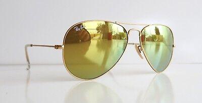 Ray Ban 3025 112/93 Gold Frame Yellow Classic Lenses Aviator Sunglasses (Ray Ban Yellow Lenses)