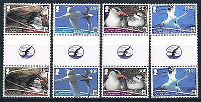 Ascension 2011 WWF Red-billed Tropicbird 4v GUTTER PAIRS MNH