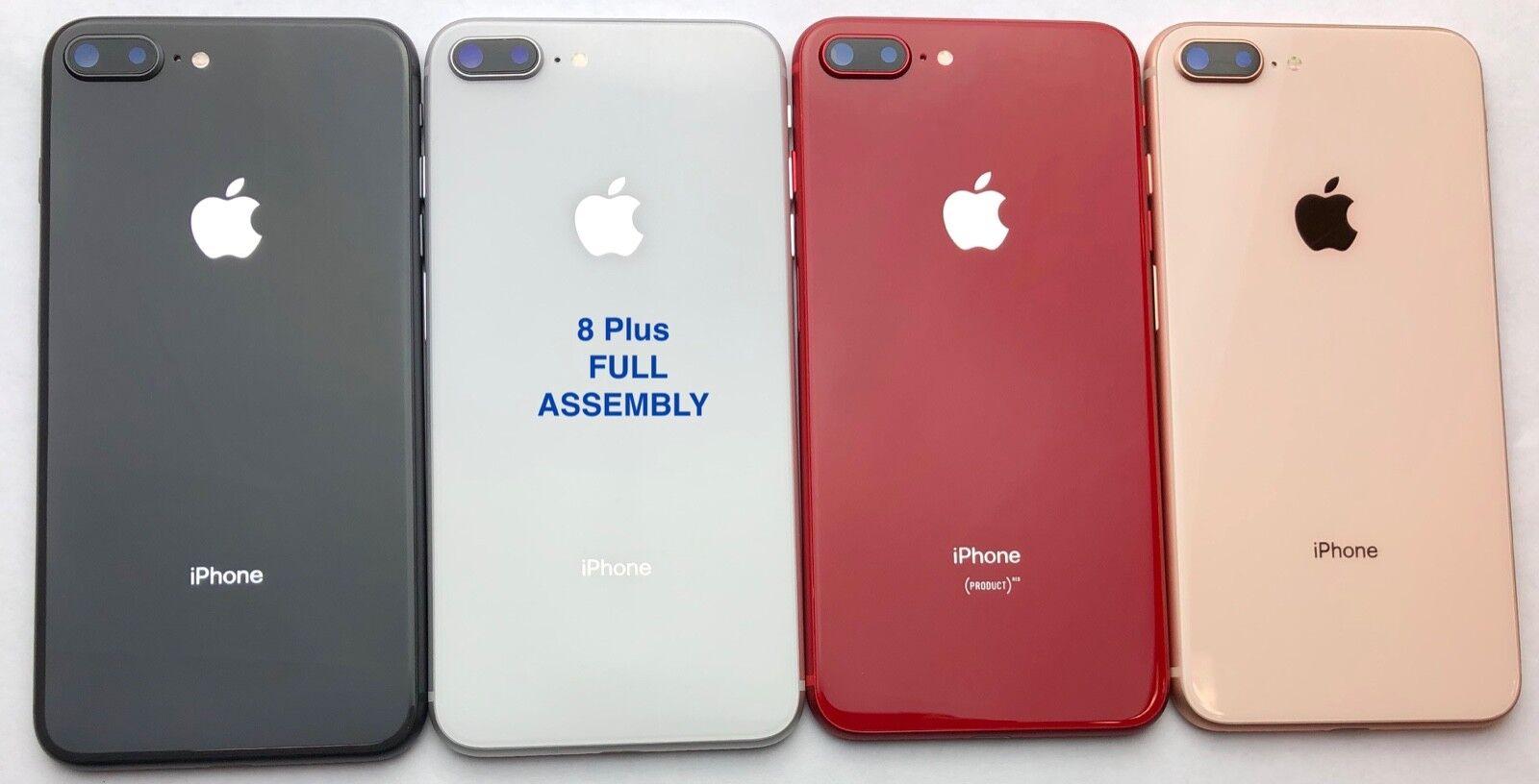 iPhone 8 8 Plus X XS XS Max XR Back Rear Glass Frame Battery Door Housing W/LOGO