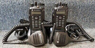Motorola Xpr6550 Uhf Digital Dmr Mototrbo Set Of 2 Radios Refurbished W Oem Mics