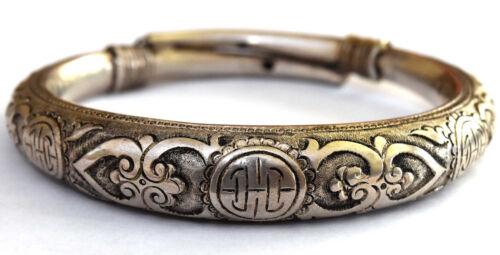 Antique Chinese Handmade Silver Bangle/Bracelet