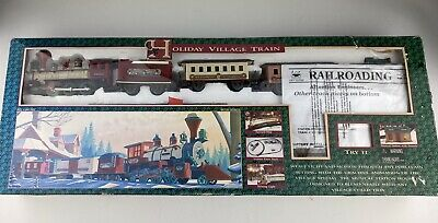 1995 New Bright Holiday Village Special Old Train #174 Christmas Vintage