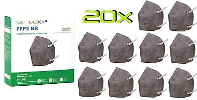 20x MedMaXX FFP2 NR Atemschutzmaske auch für Kinder geeignet Größe S grau II